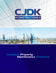 CJDK Constructions - Brochure Front Page